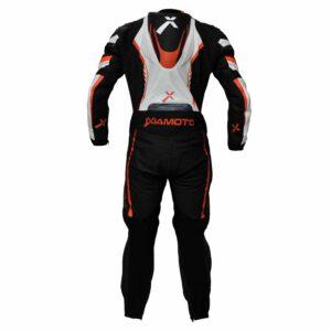 Leather Suit Black With Orange