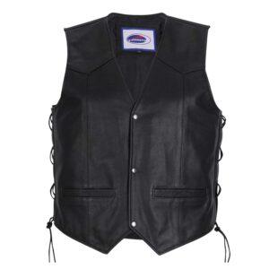 Nelson Leather Bikers Waistcoat Vest