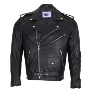 Perfecto Men Leather Biker Jacket with Protection