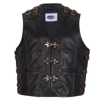 Weston Leather Bikers Waistcoat Vest
